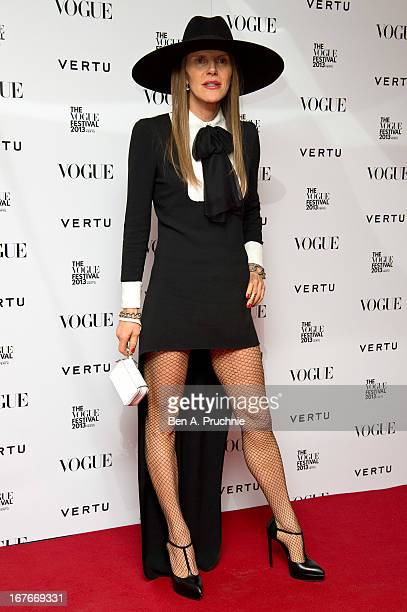 Anna Dello Russo attends the opening party for The Vogue Festival in association with Vertu at Southbank Centre on April 27 2013 in London England