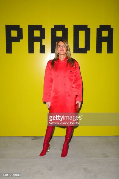 Anna Dello Russo attends the Prada Show during Milan Fashion Week Fall/Winter 2019/20 on February 21 2019 in Milan Italy