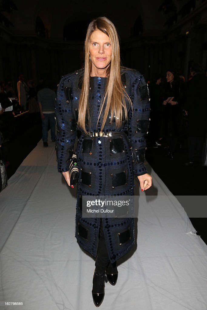 Anna Dello Russo attends the Rochas Fall/Winter 2013 Ready-to-Wear show as part of Paris Fashion Week on February 27, 2013 in Paris, France.