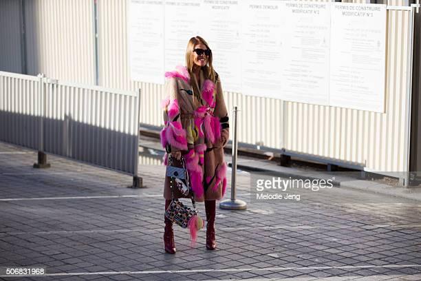Anna Dello Russo attends the Schiaparelli show at Place Vendome on January 25 2016 in Paris France