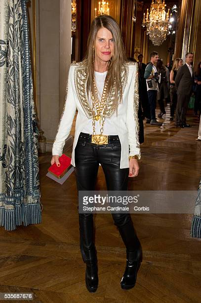 Anna Dello Russo attends the Stella McCartney Ready to Wear Fall/Winter 2012/2013 show at Hotel de Ville de Paris as part of Paris Fashion Week