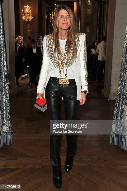 Anna Dello Russo attends the Stella McCartney ReadyToWear Fall/Winter 2012 show as part of Paris Fashion Week on March 5 2012 in Paris France