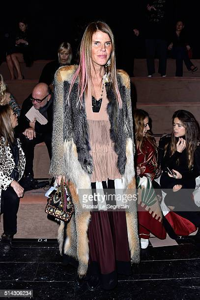 Anna Dello Russo attends the Valentino show as part of the Paris Fashion Week Womenswear Fall/Winter 2016/2017 on March 8 2016 in Paris France