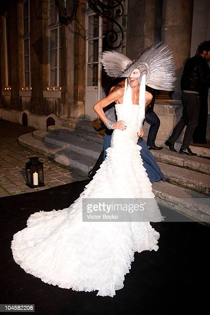 Anna dello Russo attends the Vogue 90th Anniversary Party as part of Ready to Wear Spring/Summer 2011 Paris Fashion Week at Hotel Pozzo di Borgo on...
