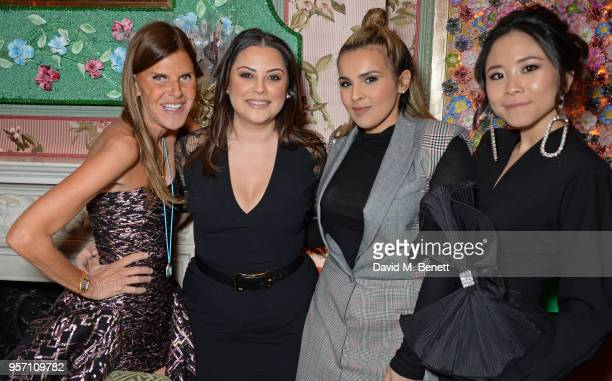 Anna Dello Russo Carol Sabbagha Sheikha Aisha Al Thani and Nga Nguyen attend a private dinner to celebrate the launch of 'AdR Book Beyond Fashion' a...