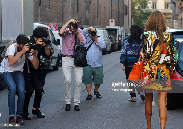 Anna Dello Russo during Milan Fashion Week Womenswear Spring/Summer 2013 on September 20 2012 in Milan Italy