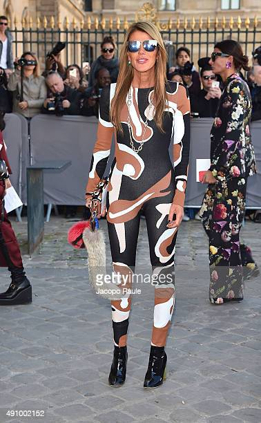 Anna Dello Russo is arriving at Dior Fashion Show during the Paris Fashion Week S/S 2016 Day 4 on October 2 2015 in Paris France