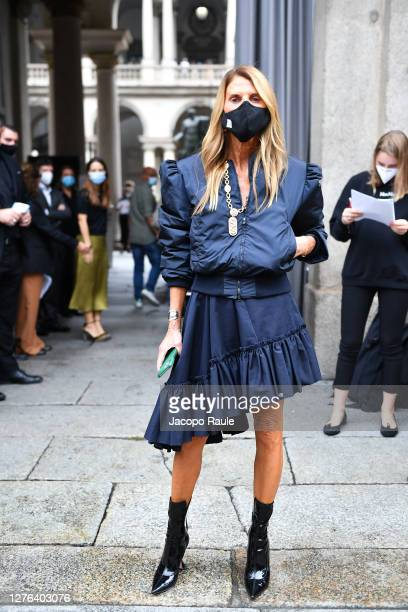 Anna Dello Russo is seen arriving at the Max Mara fashion show during the Milan Women's Fashion Week on September 24 2020 in Milan Italy