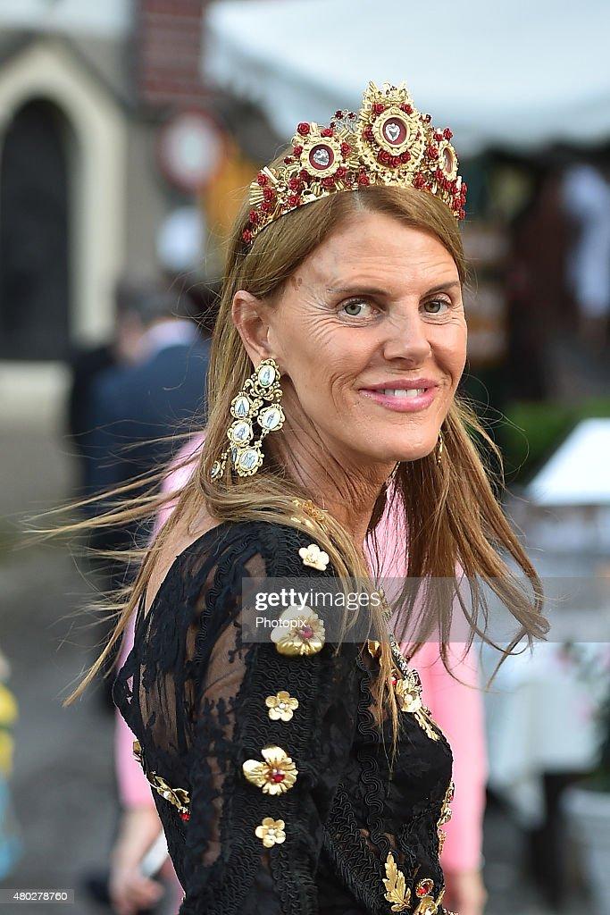 Anna Dello Russo is seen on July 10, 2015 in Portofino, .