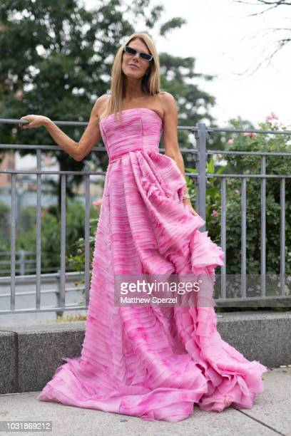Anna Dello Russo is seen on the street during New York Fashion Week SS19 wearing Oscar De La Renta on September 11 2018 in New York City