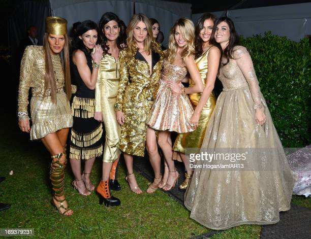 Anna Dello Russo Liberty Ross Giovanna Battaglia Angela Lindvall Jessica Hart Irina Shayk and Julia Restoin Roitfeld attend amfAR's 20th Annual...
