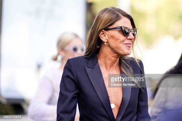 Anna Dello Russo outside Haider Ackermann during Paris Fashion Week Womenswear Spring/Summer 2019 on September 29 2018 in Paris France
