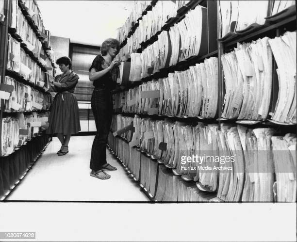 Anna Dermatossian and Kathy farmer clerical assistance at the Registrar Gen where the certificates of file are kept and they will eventually...