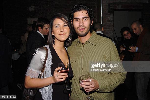 Anna DeSouza and Igor Alves attend INTERVIEW MAGAZINE Afterparty for the Opening Night of the Off Broadway Play 'ABIGAIL'S PARTY' at Sascha on...