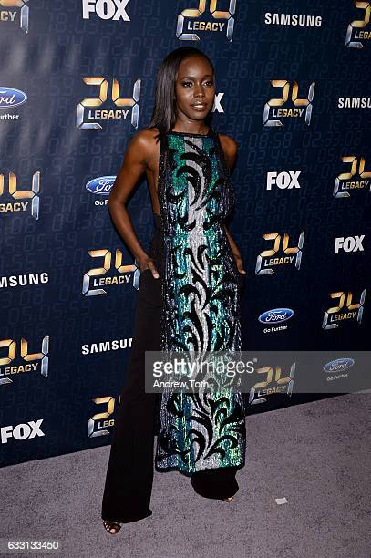 Anna Diop attends the '24 LEGACY' premiere at Spring Studios on January 30 2017 in New York City