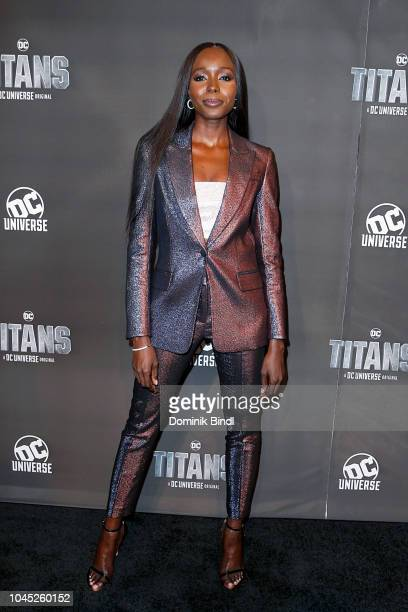 Anna Diop attends 'Titans' DC Series World Premiere at Hammerstein Ballroom on October 3 2018 in New York City