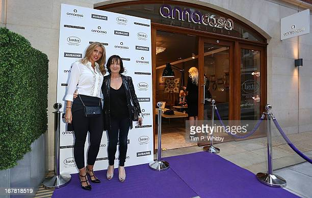 Anna Dodonova and Caroline True at Anna Casa Interiors celebrating the showroom redesign and launch of Caroline True collection at Anna Casa...