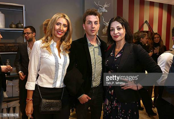 Anna Dodonova Danny Goffey and Pearl Lowe at Anna Casa Interiors celebrating the showroom redesign and launch of Caroline True collection at Anna...