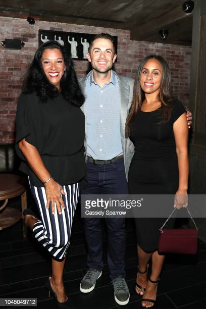 Anna Domenich David Wright and Marie Rivera attend Private Dinner Honoring David Wright at TAO Downtown on September 30 2018 in New York City