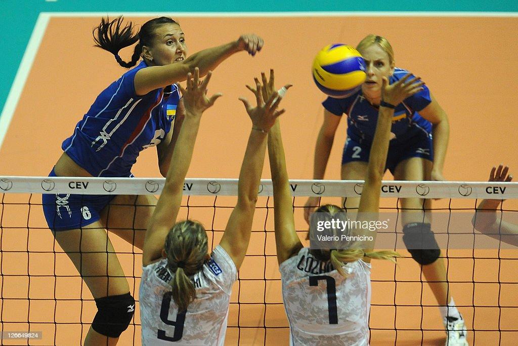 Women Volleyball European Championship - Ukraine v France : News Photo