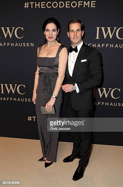 Anna Drijver and Christoph GraingerHerr attends the IWC Schaffhausen Decoding the Beauty of Time Gala Dinner during the launch of the Da Vinci...