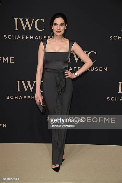 Anna Drijver arrives at IWC Schaffhausen at SIHH 2017 Decoding the Beauty of Time Gala Dinner on January 17 2017 in Geneva Switzerland