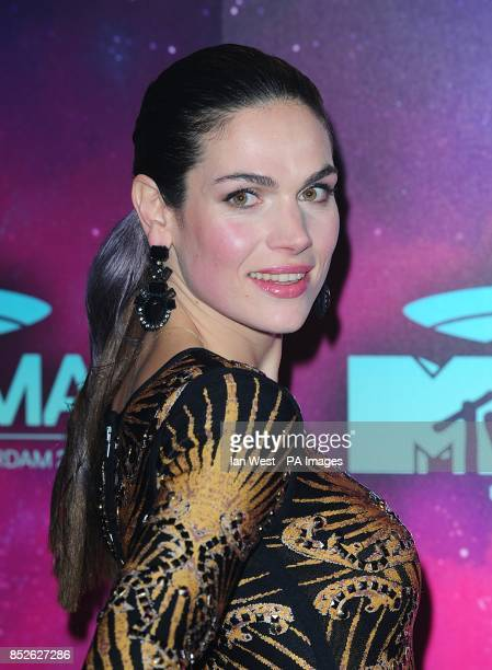 Anna Drijver arriving for the 2013 MTV Europe Music Awards at the Ziggo Dome Amsterdam Netherlands