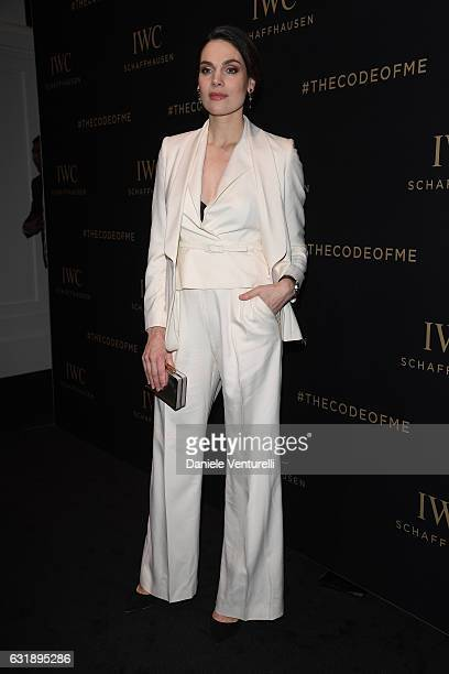 Anna Drijver attends the Da Vinci Collection by IWC Schaffhausen launch on January 17 2017 in Geneva Switzerland