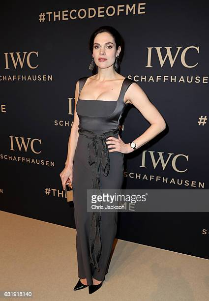 Anna Drijver attends the IWC Schaffhausen Decoding the Beauty of Time Gala Dinner during the launch of the Da Vinci Novelties from the Swiss luxury...