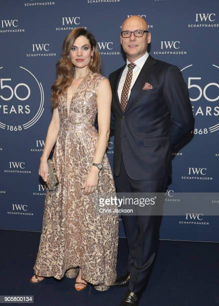 Anna Drijver attends the IWC Schaffhausen Gala celebrating the Maison's 150th anniversary and the launch of its Jubilee Collection at the Salon...