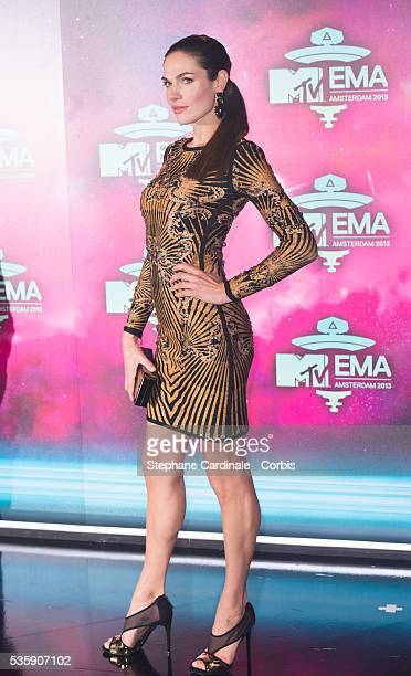 Anna Drijver attends the MTV EMA's 2013 at the Ziggo Dome in Amsterdam Netherlands