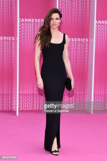 Anna Drijver from the serie Undercover attends Miguel and Undercover screening during the 1st Cannes International Series Festival at Palais des...