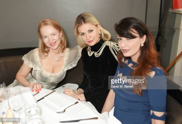 Anna Duroc-Danner, Tatiana Kharchilava and Alessandra Vicedomini attend a Charity Luncheon in support of the Nadezda Foundation hosted by Nadya Abela...