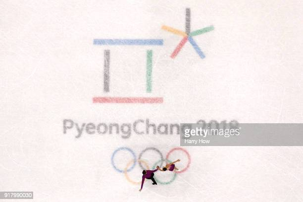Anna Duskova and Martin Bidar of the Czech Republic compete during the Pair Skating Short Program on day five of the PyeongChang 2018 Winter Olympics...