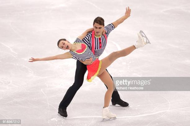 Anna Duskova and Martin Bidar of the Czech Republic compete during the Pair Skating Free Skating at Gangneung Ice Arena on February 15 2018 in...