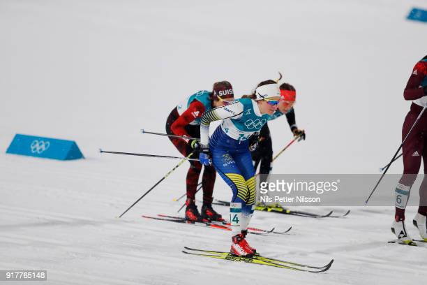 Anna Dyvik of Sweden during the Womens Individual Sprint Classic Finals on day four of the PyeongChang 2018 Winter Olympic Games at Alpensia...