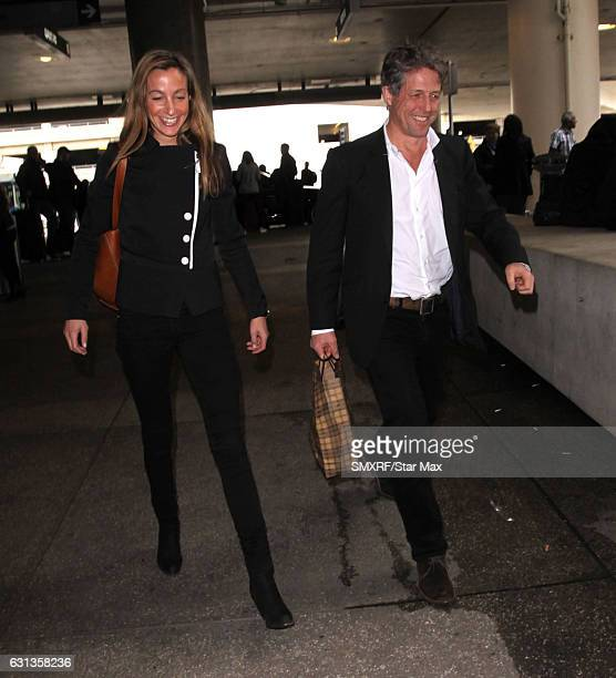 Anna Eberstein and Hugh Grant are seen on January 9 2017 in Los Angeles California
