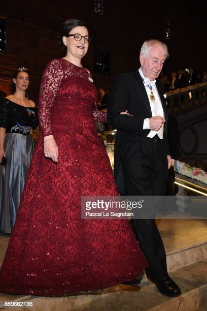 Anna Ekstrom and Peter Doherty attend the Nobel Prize Banquet 2017 at City Hall on December 10 2017 in Stockholm Sweden