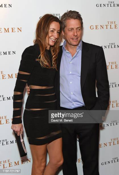 Anna Elisabet Eberstein and Hugh Grant attend a special screening of The Gentlemen at The Curzon Mayfair on December 03 2019 in London England