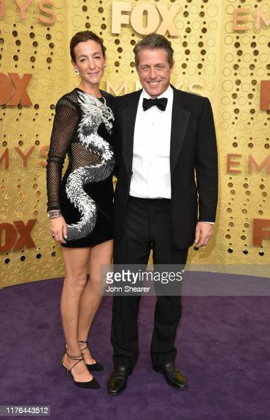 Anna Elisabet Eberstein and Hugh Grant attend the 71st Emmy Awards at Microsoft Theater on September 22 2019 in Los Angeles California