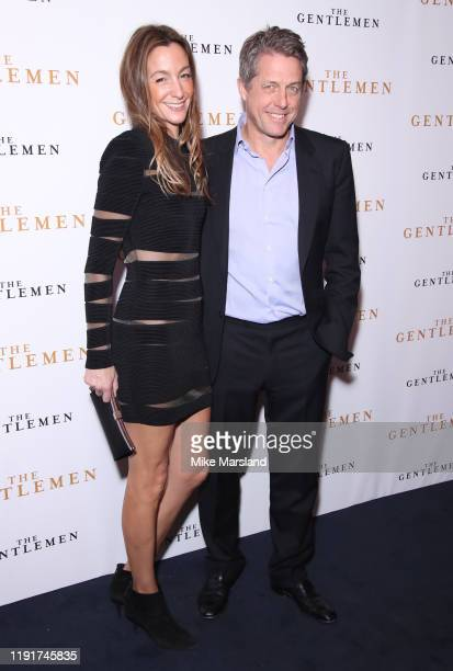 Anna Elisabet Eberstein and Hugh Grant attend The Gentleman Special Screening at The Curzon Mayfair on December 03 2019 in London England