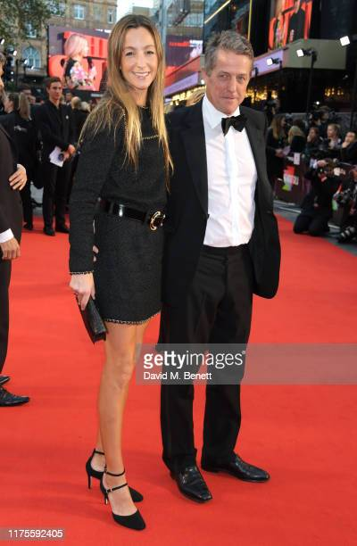 Anna Elisabet Eberstein and Hugh Grant attend the International Premiere and Closing Night Gala screening of NETFLIX's The Irishman during the 63rd...
