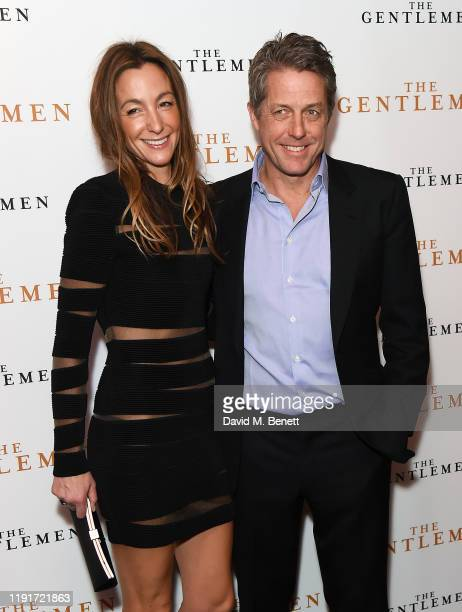 Anna Elisabet Eberstein and Hugh Grant attendsa special screening of The Gentlemen at The Curzon Mayfair on December 03 2019 in London England