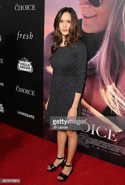 Anna Enger attends the premiere of Lionsgate's 'The Choice' at the ArcLight Cinemas on February 1 2016 in Hollywood California