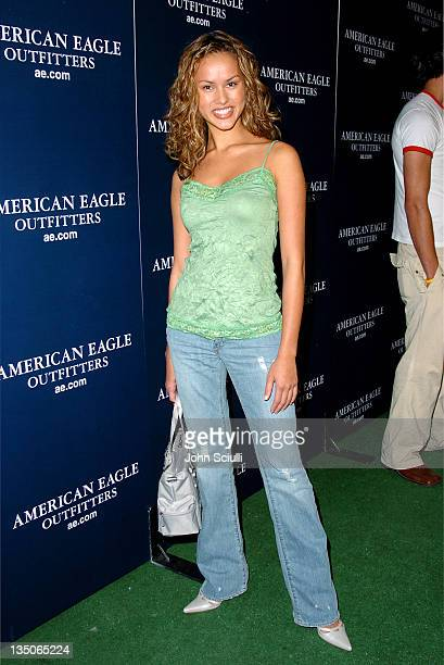 Anna Enger during American Eagle Outfitters Rocks Los Angeles with a Back to School Tailgate Party Red Carpet at Hollywood Lot in Hollywood...