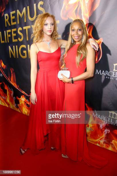 Anna Ermakova and her mother Angela Ermakova attend the Remus Lifestyle Night on August 2 2018 in Palma de Mallorca Spain
