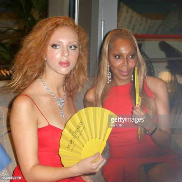 Anna Ermakova and her mother Angela Ermakova during the Remus Lifestyle Night on August 2 2018 in Palma de Mallorca Spain