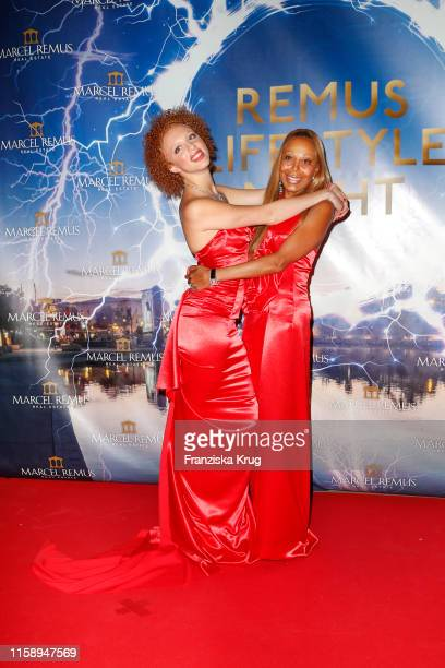 Anna Ermakova and her mother Angela Ermakova during the Remus Lifestyle Night on August 1 2019 in Palma de Mallorca Spain