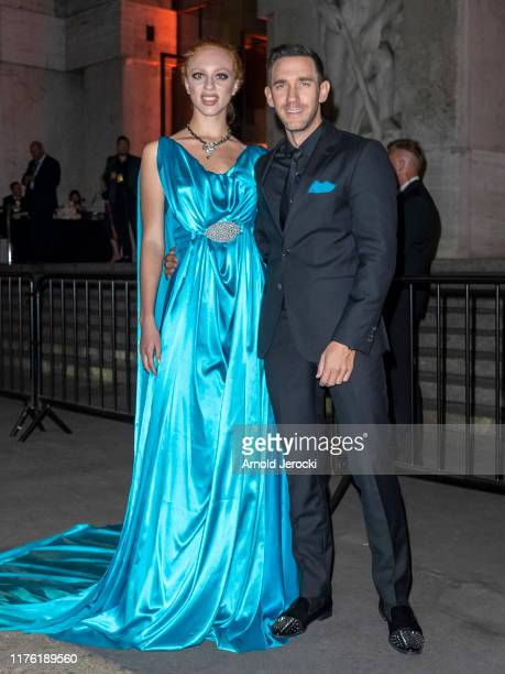 Anna Ermakova and Marcel Remus are seen during Milan Fashion Week Spring/Summer 2020 on September 21 2019 in Milan Italy