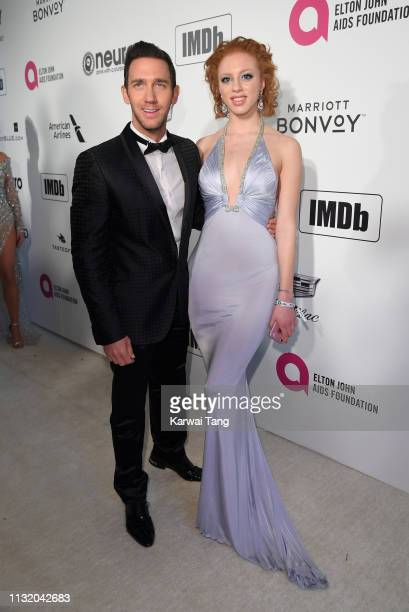 Anna Ermakova and Marcel Remus attend the 27th annual Elton John AIDS Foundation Academy Awards Viewing Party Celebrating EJAF And The 91st Academy...
